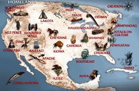 native american indian tribe map