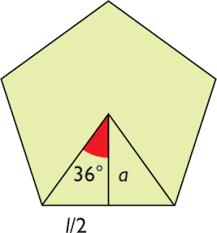 apotema de un pentagono