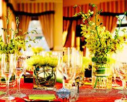 orange green wedding