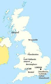 england airport map