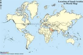 saudi arabia world map