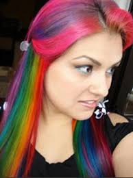 bright colour hair dye