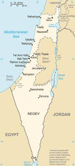 map of palestine israel