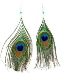 peacock feathers earrings