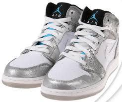 silver jordans