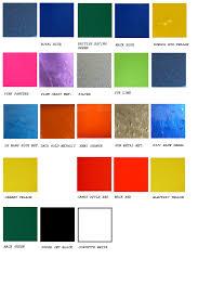 automotive paint charts