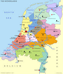 map of netherlands and germany