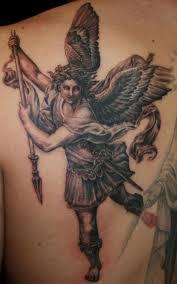 st michael tattoo design