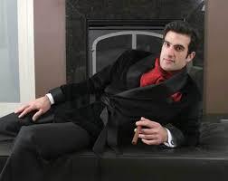 black silk jacket
