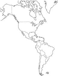 mapa fisico del continente americano