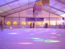 pista de patinaje sobre hielo