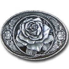 rose belt buckle