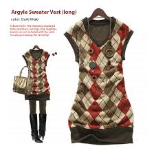argyle sweater pattern
