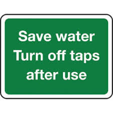 save water signs