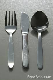 fork spoon and knife
