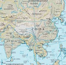 map of china asia