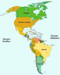 mapa de continente americano