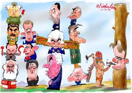 cartoon totem poles