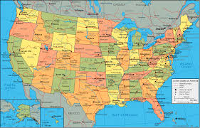 map of the states in the usa