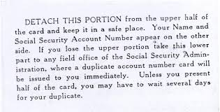 back of social security card