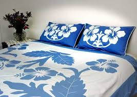 blue bed covers