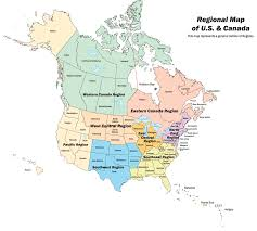 map of canada and us