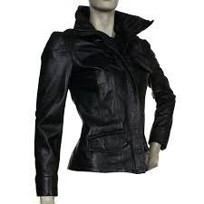 fitted leather coat