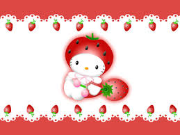 strawberry hello kitty