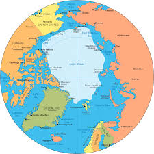 map of arctic