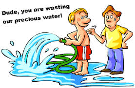 people wasting water