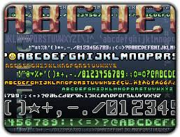 bitmap fonts