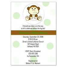 monkey baby invitations