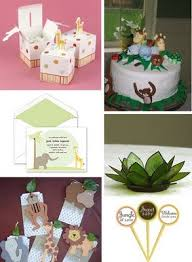 jungle baby shower themes