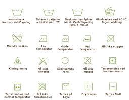 vaskeanvisning symboler