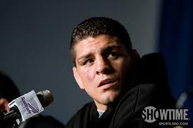 champion Nick Diaz is off
