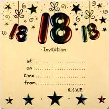 18th birthday invitation