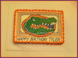 florida gator cake