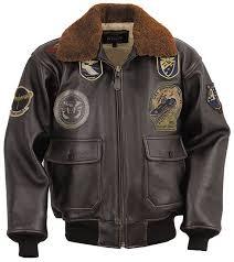 leather aviator coat