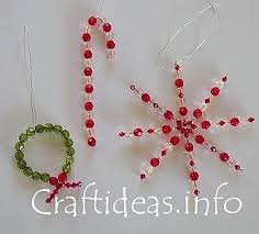 bead christmas decorations