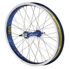 blue bmx wheel