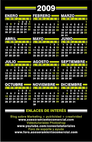formato calendario 2009