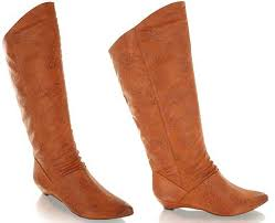 slouch flat boot