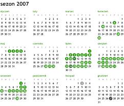 kalendarz 2007