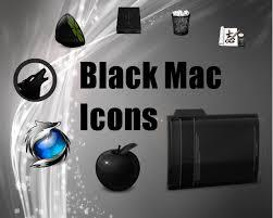 black mac icons