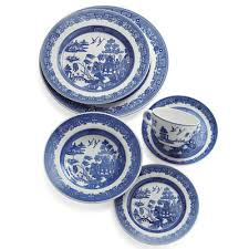 blue willow tableware