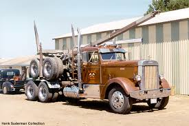 peterbilt logging trucks