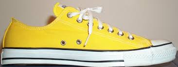 bright yellow converse