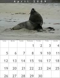 calendrier avril 2009