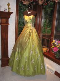 apple green prom dresses