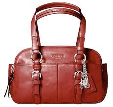 coach bag red